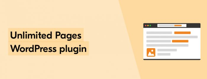 Unlimited pages WP plugin