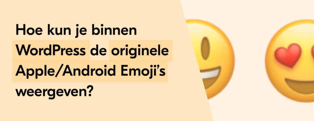 WordPress originele emojis