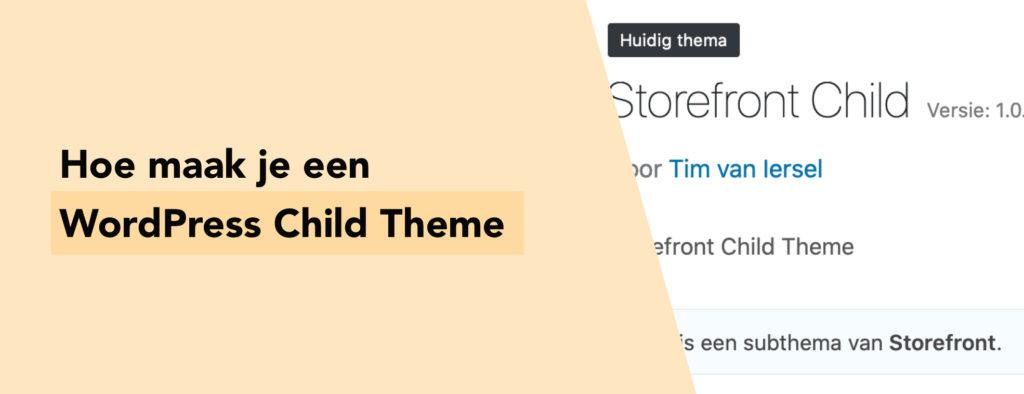 Hoe maak je een WordPress child theme