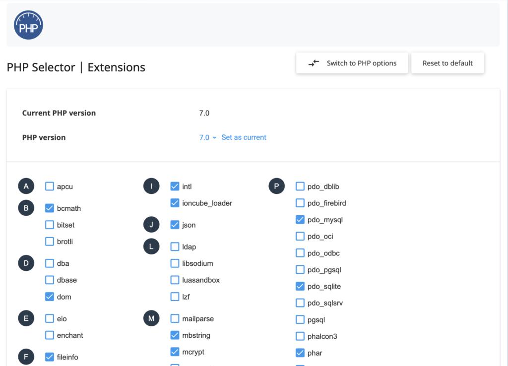 PHP extensies inschakelen binnen DirectAdmin