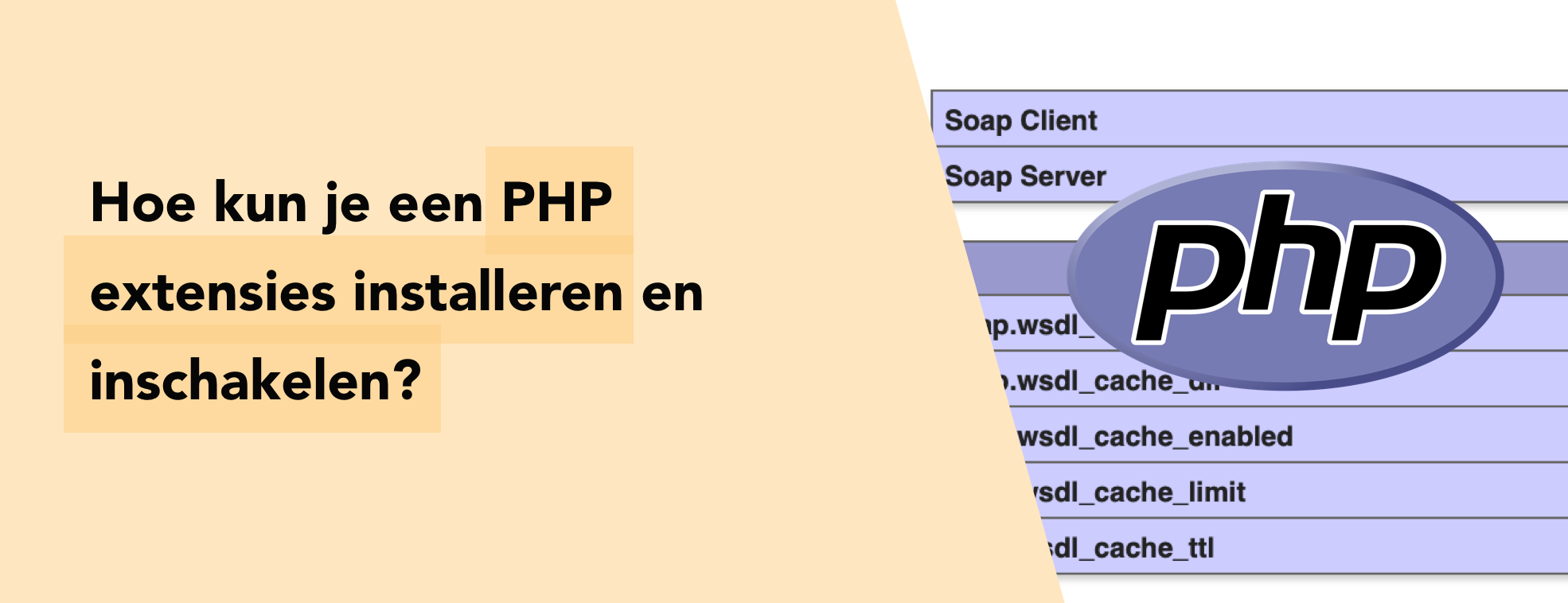 Hoe kun je een PHP extensies installeren en inschakelen?