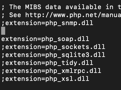 Terminal php.ini