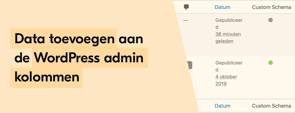 Kolommen toevoegen aan de WordPress admin kolommen